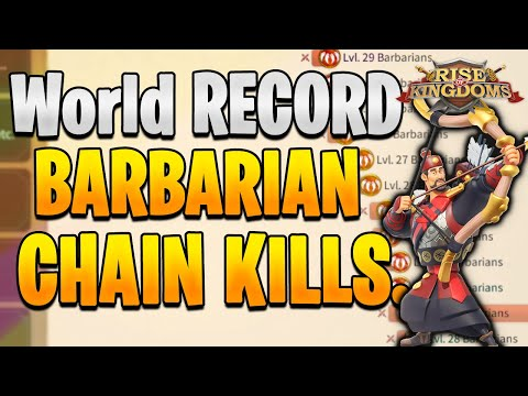 WORLD RECORD? Best Way to Use Action Points [ Barbarian Chaining ] | Rise of Kingdoms