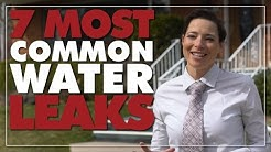 Where to Find Water Leaks: 7 Places to Check for Water Leaks, Most Common Water Leaks in Your House