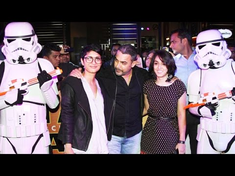 Aamir Khan With Family Attains Star Wars The Force Awakens GRAND PREMIERE