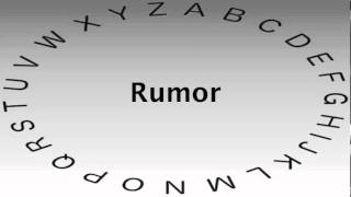 Spelling Bee Words and Definitions — Rumor