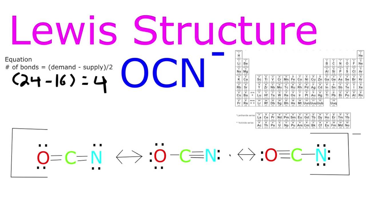 Ocn Lewis Structure Youtube