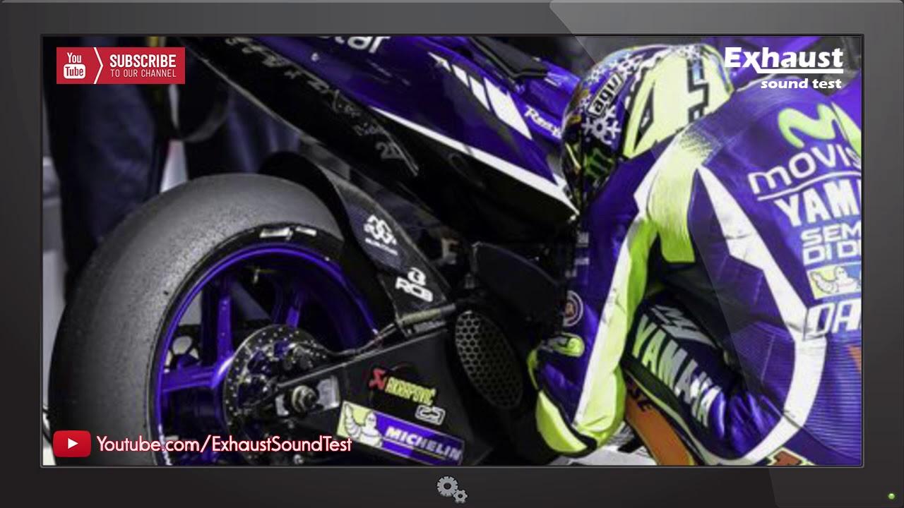 Yamaha Yzr M1 Valentino Rossi Exhaust Sound Test Youtube