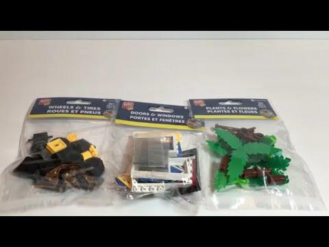 Dollar Tree Lego Compatible Bricks, Plants, Trees And Wheels
