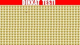 20 SANİYEDE ZEKANI TEST ET ! DİKKAT TESTİ #