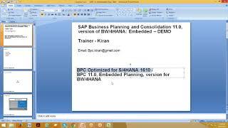 BPC 11.0 ، إصدار وزن الجسم/4HANA - جزءا لا يتجزأ من التخطيط Demo