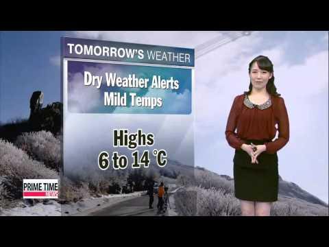 Dry weather advisories in southeastern coastal regions