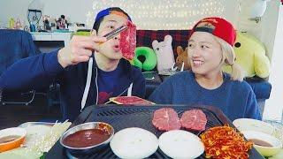 Korean Grilling at Home pt.1 mukbang