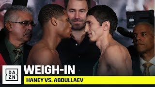 Haney vs. Abdullaev Official Weigh-In