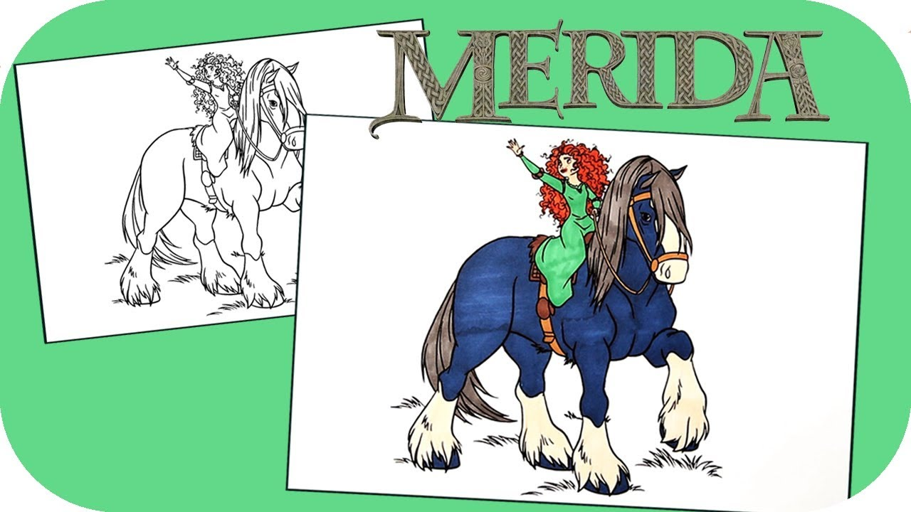 Coloring Merida the Brave | Disney Princess Coloring Pages | Fun ...