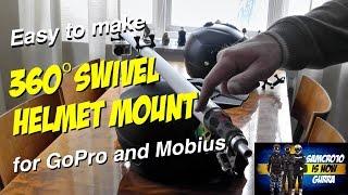 Cheap DIY 360˚ Swivel Helmet Mount for GoPro camera