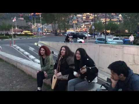 beautiful Georgian girls,singing beautiful Georgian song
