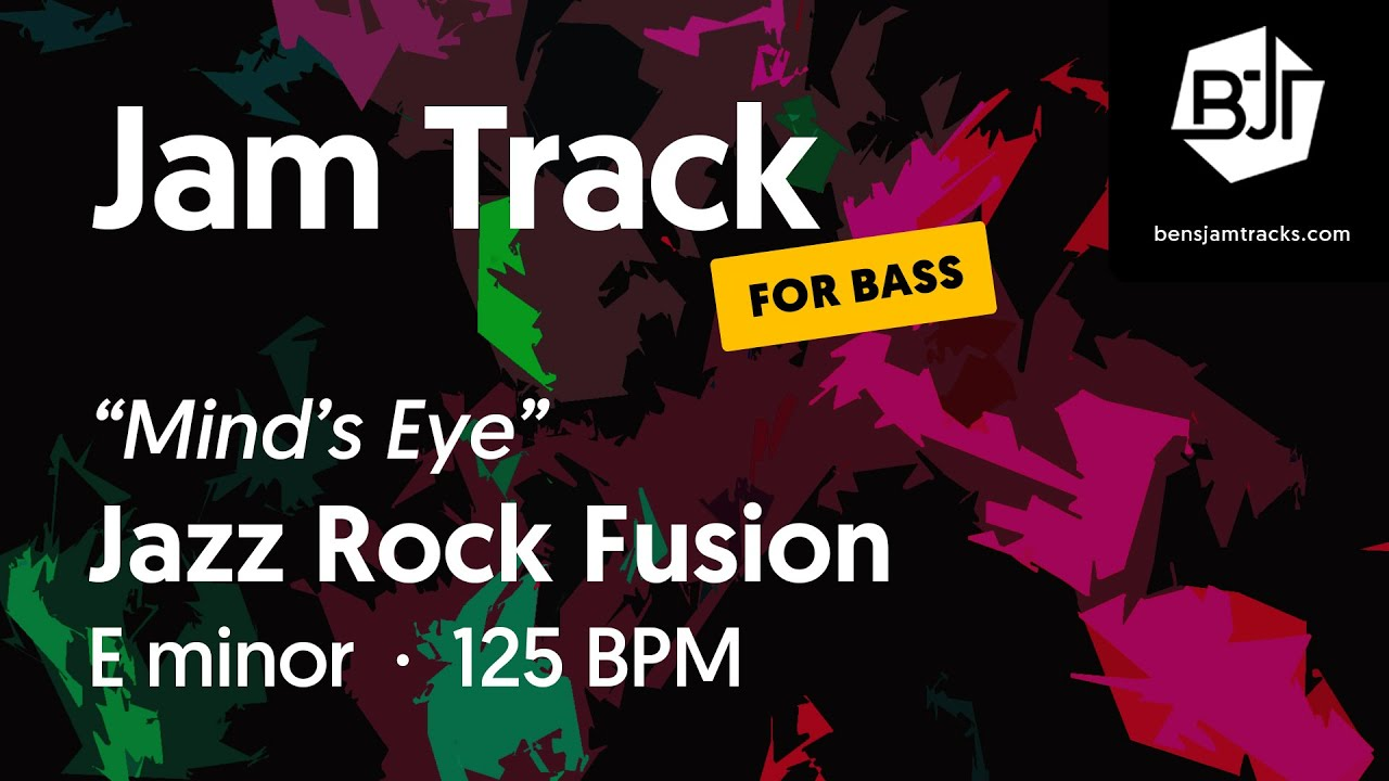 """Jazz Rock Fusion Jam Track in E minor """"Mind's Eye"""" (for bass) - BJT #77"""