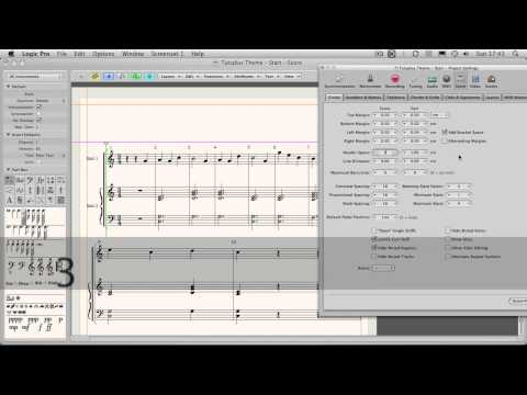 How to Create a Song Sheet in Logic's Score Editor - Part 2 - Basic Formatting