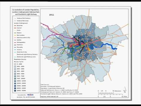Evolution of the London Underground + National Rail 1801-2008