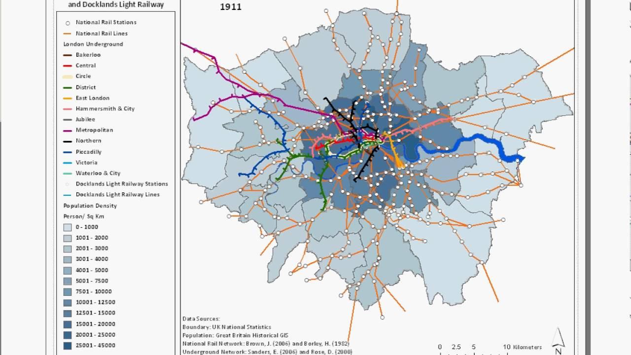 Evolution Of The London Underground National Rail - National rail map london