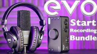 Best Audio Interface 2021? EVO Start Recording Bundle Review with Audio Examples