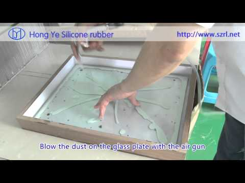The process of making culture stone molds in pouring way with silicone rubber