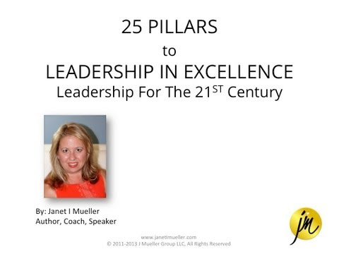 25 Pillars to Leadership In Excellence