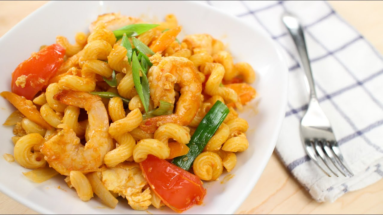 Thai style pasta recipe pad macaroni hot thai kitchen for Asian cuisine indian and thai food page