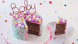 Шоколадный Блинный Торт с малиново-сырным кремом! Торт на сковороде!