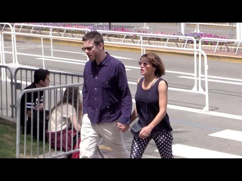 EXCLUSIVE  Emma de Caunes and Jamie Hewlett on the Croisette in Cannes