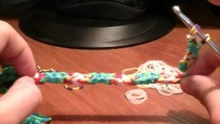 Как сделать из резинок Rainbow Loom змейку урок 5