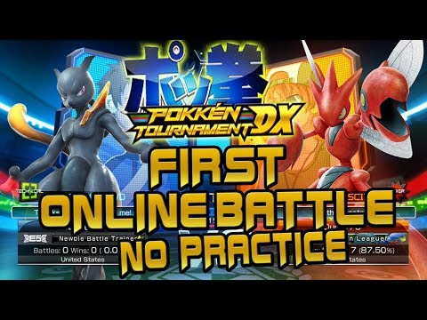 Pokken Tournament DX - FIRST Online Battle (Without Practice)  Gameplay
