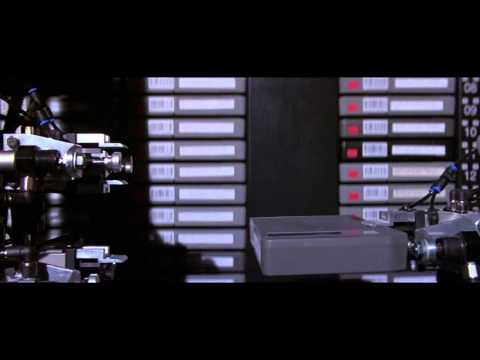 Hackers - tape robot fight scene