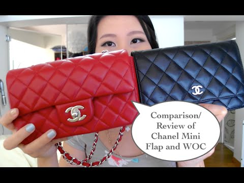 729dccb54a91 Chanel Mini flap & WOC comparison and review - YouTube