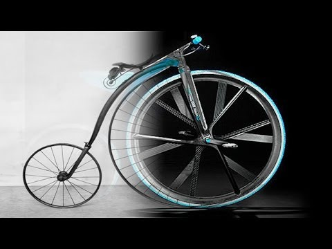 BASF Concept 1865: A Modern High Tech Penny Farthing Bicycle