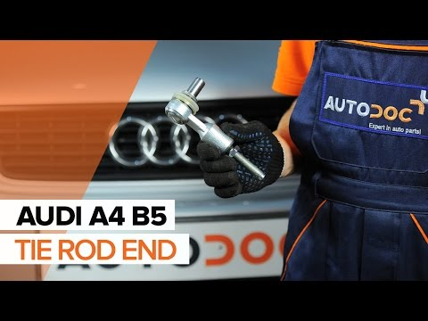 How to replace a Track Rod End on AUDI A4 B5 TUTORIAL | AUTODOC