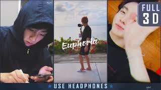 BTS 정국(JUNGKOOK) - EUPHORIA (DJ Swivel Forever Mix, FULL 3D)┃★이어폰 필수! USE HEADPHONES!