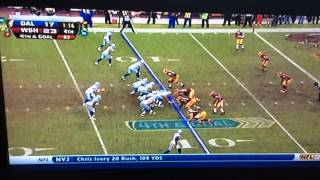 Tony Romo amazing 4th down Play!!!