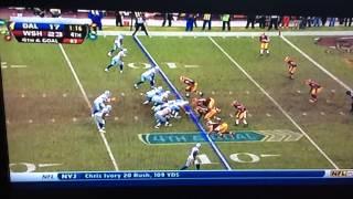 Tony Romo amazing 4th down Play!!!