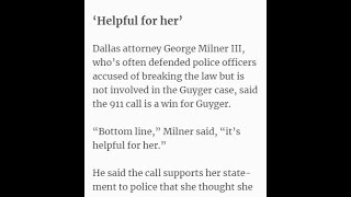 "5-4-19 TROLLS TRY TO SELL AMBER GUYGER'S FAIL OF A 911 CALL AS ""HELPFUL"" #LOL"