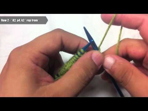 How to Knit The 4-Stitch Cable