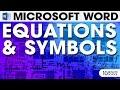 MS Word Equation & Symbols | Tutorial 14