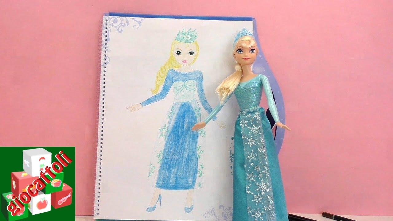 come disegnare elsa di frozen disegnare topmodel la