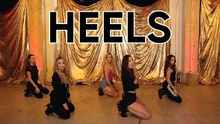 Hardcore Heels Dance Tutorial (Beginner) with Rebecca Zamolo, Rosanna Pansino & the Merrell Twins!