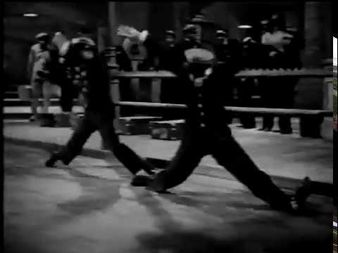 The Nicholas Brothers Leap Through Train Windows