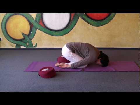 variations of child's pose  hatha yoga asana garbhasana