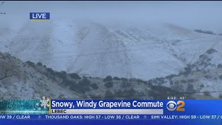 Snow Showers, Gusty Conditions Hit Grapevine