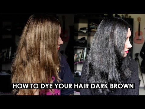 HOW TO DYE YOUR HAIR DARK BROWN (OR BLACK?) | Rocknroller - YouTube