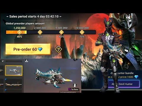 Garena Free Fire New Pre- order Event || Devil Hunter Bundle at CROSB skin free fire