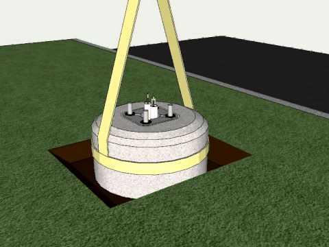 Typical Light Pole Installation C E System Single