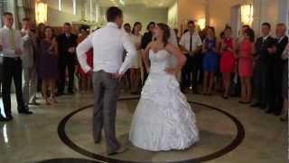 Szalony pierwszy taniec weselny Anety i Michała - www.videofotoweselne.pl