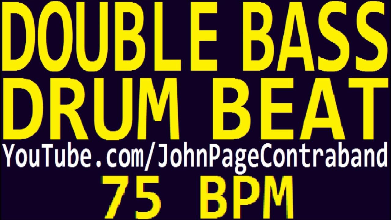 Double Bass Drum Beat Loop 75 bpm Metal Slow