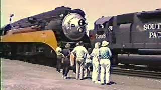 Southern Pacific 4449 Dixieland Jubilee Daylight Pt 1 1989 and SD40R 7308