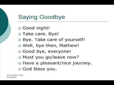 Saying Goodbye Unit 3 Youtube