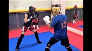 キックボクシング中学生 ジュニアスパーリング 13yearsold(Junior kickboxing)